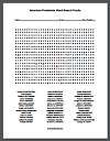 American Presidents Word Search Puzzle