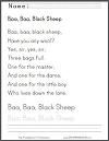 Baa, Baa, Black Sheep Worksheets