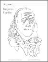 Benjamin Franklin Coloring Sheet