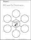 """All I Want for Christmas"" Bubble Map Organizer"