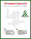 Christmas Crossword Puzzle for Grades 3-6