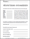 Christmas Unscramble Worksheet for Grades 4-6