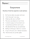Circle the Conjunctions Worksheet