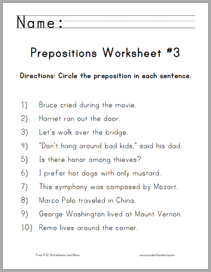 5th Grade Prepositions Worksheets besides 5th Grade Prepositions ...