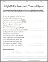 Concord Hymn by Ralph Waldo Emerson Poetry Unscramble