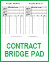 Contract Bridge Scoring Sheets