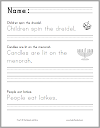 Hanukkah Sentences Writing Practice for Grades K-2