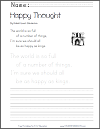 Happy Thought byRobert Louis Stevenson