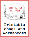 The Little Red Hen eBook with Worksheets