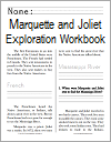 Marquette and Joliet Explore the Mississippi Workbook for Grades 1-3