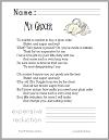 My Grocer Poem Worksheet