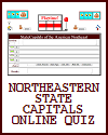 Northeastern State Capitals Online Playtime Quiz Game