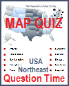 Northeastern States Question Time Interactive Map Matching Game
