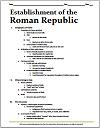 Ancient Roman Republic Printable Outline