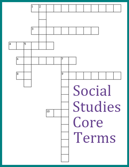 social studies core terms crossword puzzle 2. Black Bedroom Furniture Sets. Home Design Ideas