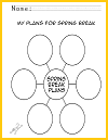 Spring Break PlansBubble Chart Sheet