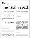 Stamp Act (1765) Workbook for Kids