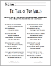 """The Tale of Two Apples"" Poetry Unscramble"