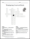 Thanksgiving Crossword Puzzle (Grades 5-8)