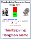 Interactive Thanksgiving Hangman-style Energy Saver Game (Grades 2-6)
