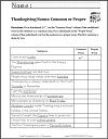 Thanksgiving Nouns Common or Proper Worksheet (Grades 1-3)