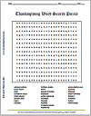 Thanksgiving Word Search Puzzle (Grades 5-8)