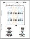 Chinese Communist Revolution Word Search Puzzle