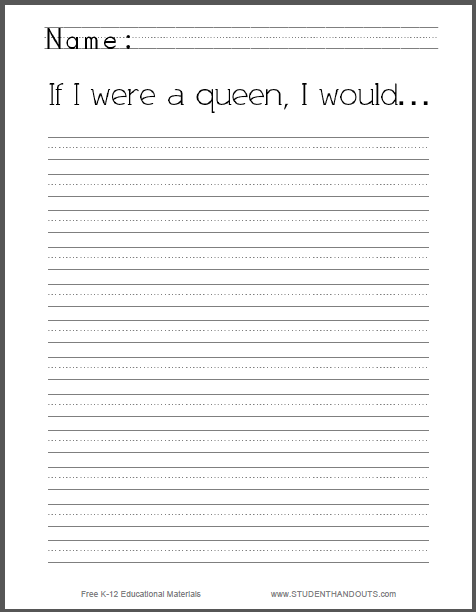 If I Were A Queen Essays