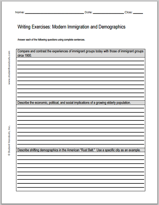 immigration essays students