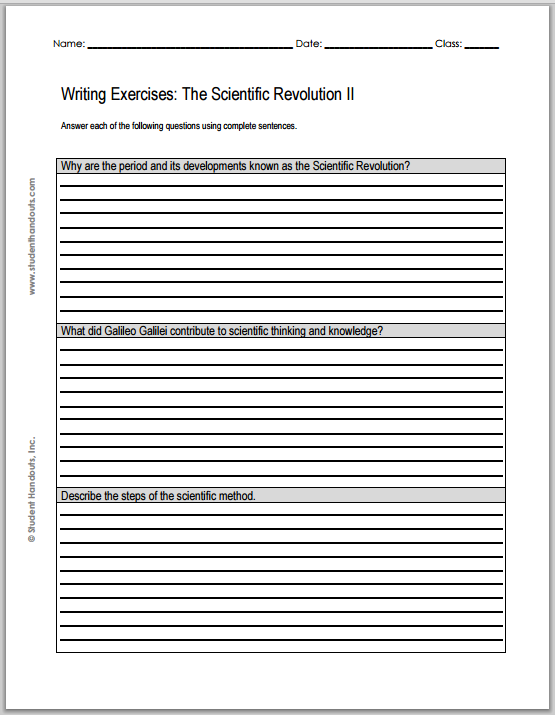 Printables Scientific Revolution Worksheet scientific revolution worksheet abitlikethis essay questions 2