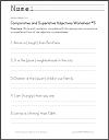 Comparative and Superlative Adjectives Worksheet #5