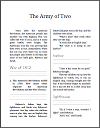 The Army of Two in the War of 1812 Workbook