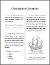 Christopher Columbus Workbook for Grades 1-3