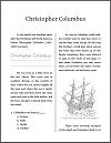 Christopher Columbus Workbook for Grades 1-3