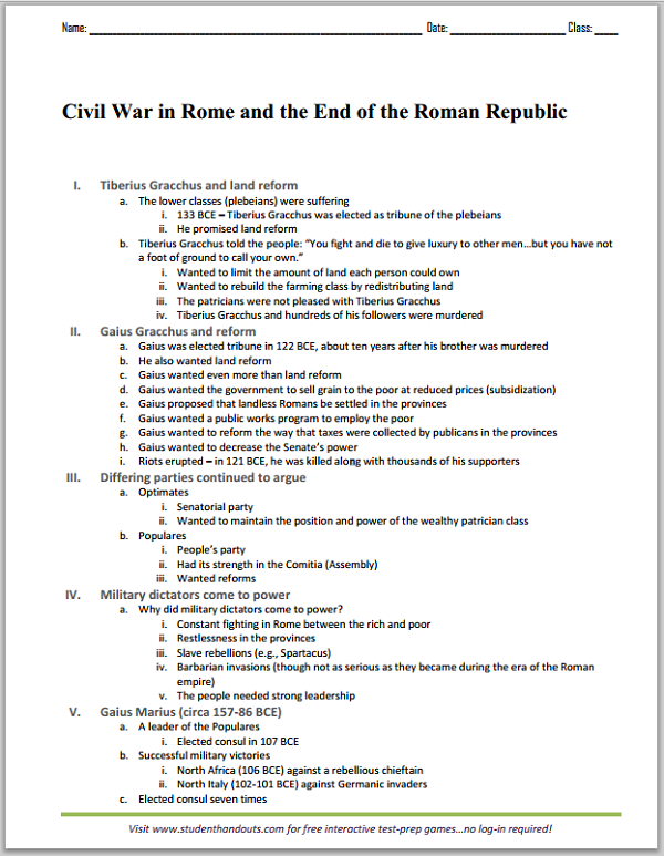 essay outline civil war View essay - comparison-contrast essay-the revolutionary war vs the civil war from engl 1301 at central texas college teague i outline thesis: the american civil war.