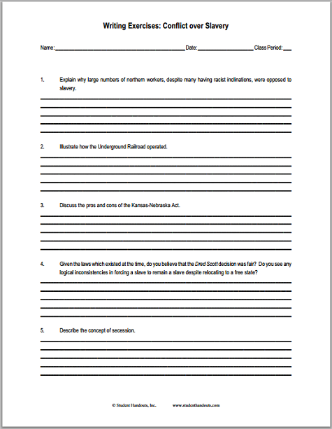 american slavery essay questions