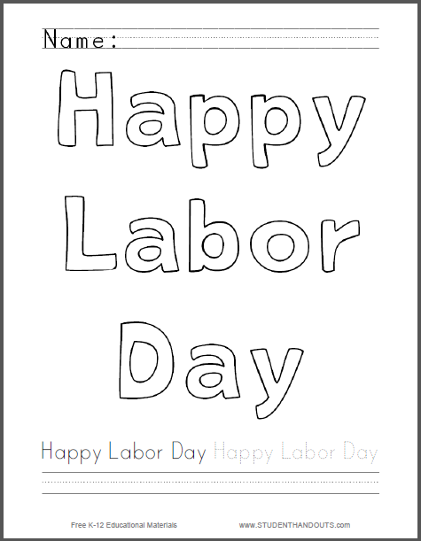 happy labor day coloring pages - photo#4