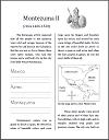 Montezuma II of the Aztec Workbook