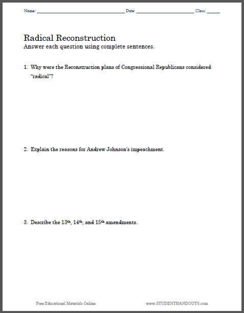 Civil war amendments essay