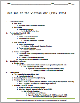 world war 1 research essay outline