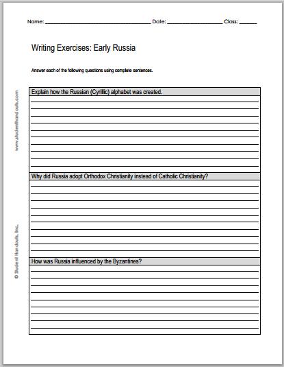 Russian essay writing