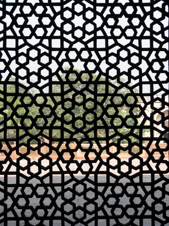 Elaborate latticework located on the grounds of Humayunu0026#39;s ...